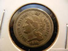 1874 Nickel 3 Cent Piece