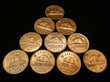 10 Canadian Nickels