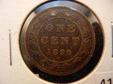 1890 M Canadian Large Cent
