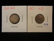 2 - 1968 Canadian Dimes 50% Silver