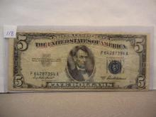 1953-A Five Dollar Silver Certificate Blue Seal