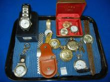 Lot of Men's Wrest Watches & Pocket Watches: Not Running