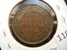 1916 Canadian One Cent