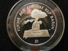 2001 $1 Snoopy Flying Ace and The Red Baron