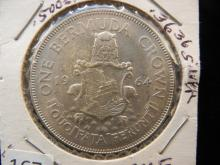 1964 One Crown from Bermuda