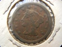 1844 Braided Hair Large Cent