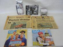 Nascar Dale Earnhardt #3 :Key Chains, Notepads, Newspaper Articles of time of Death