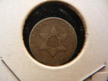 1852 Three cent Silver.  Very Good detail.