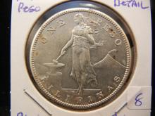 1910-S Philippines silver Peso.  Almost Uncirculated detail.
