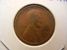 1909-S Lincoln Cent.  Very Fine detail.  Scarce key coin.