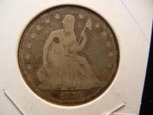 1876 Seated Liberty Half Dollar.  Good.