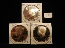 1976-S, 1977-S, 1978-S Kennedy Halves. Gem Proof in a bundle.