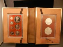 1974 Cook Islands (9) coin proof set.  Silver $2.4 coin and $7.5 coin.  Neat denominations.