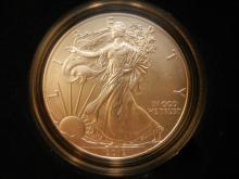 2012 W Silver Eagle.  GEM BU in original box.