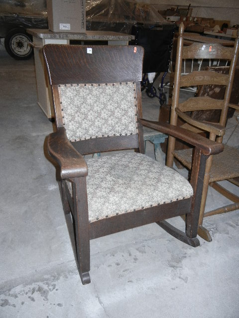 Antique Rocking Chair Tiger Oak Will Not Ship