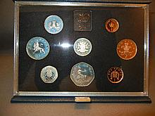 1983 United Kingdom Proof Coins.  Eight coins including 1 pound.