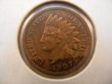 1907 Indian Head Cent Toned