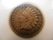 1862Indian Head Cent  Copper Nickel