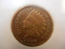 1908-S Indian Head Cent  Big Key Date