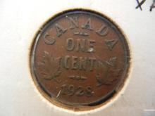 1928 Canadian 1 Cent