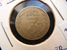 1920 Silver Three Pence