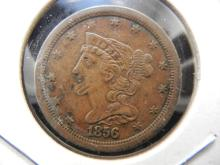 1856 US Half cent.  Extremely fine detail.