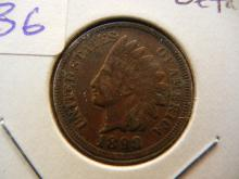 1898 Indian cent.  Extremely fine detail with full Liberty.