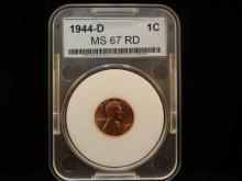 1944-D MS 67 RD Lincoln Wheat Cent