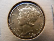 1944 Unc. Mercury Dime