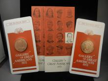 Franklin Mint Solid Bronze Proof ,2- Comm. Coins,