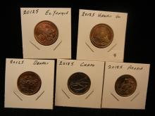 (5) 2012-S National Park Quarters.  Uncirculated.  Who has these?