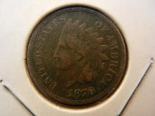 1870 Indian Cent.  Full Liberty.  VF Detail.