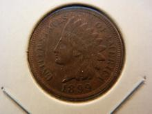 1899 Indian Cent.  All diamonds.  Extremely Fine detail.