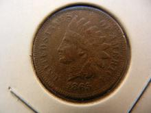 1865 Indian Cent.  Extremely Fine detail.