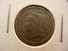 1865 Nickel Three Cent Piece