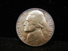 1944-P Silver War Time Jefferson Nickel w/Die Crack