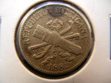 1882 5 Centavos Mexican Coin