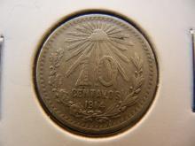 1914 10 Centavos Mexican Coin