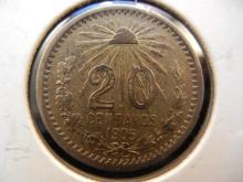 1905 20 Centavos Mexican Coin