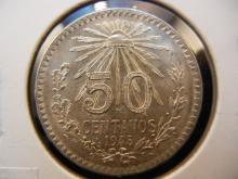 1945 50 Centavos Mexican Coin