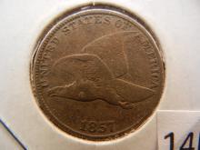 1857 Flying Eagle Cent ,