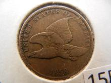 1858 Flying Eagle Cent -- Small Letters ,
