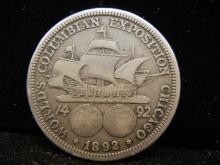 1892 Columbian Exposition Half Dollar