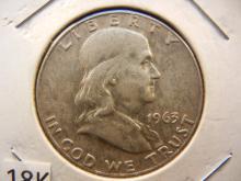 1963 Double Die Franklin Half Dollar