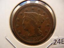 1847 Large Cent ,