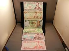6-Iraq Saddam Era Bank Notes , all different