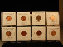 8-Lincoln Memorial Cents , 1960,63,68,-S, 69, 73,76,77,78
