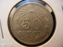 1920 50 Centavos Mexican Coin