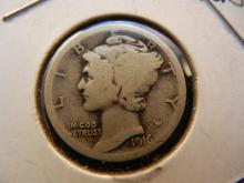 1916 Mercury Dime Rotation Error