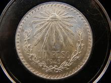 1943 UN Peso 72% Silver